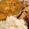 Chicken Korma und Naan Brot