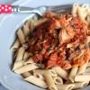 Pasta mit Thunfisch-Champignonsoße