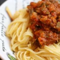 Pasta mit Zucchini - Parmaschinken - Bolognese