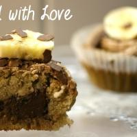 Bananen-Cupcakes mit Nutella gefüllt