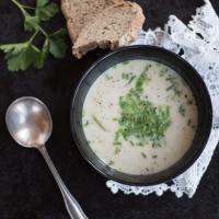 Geröstete Blumenkohlcreme-Suppe