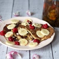Gesunde Bananen-Haferflocken-Pancakes