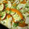 Herbstpizza mit Apfel und Kürbis