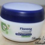 [Review] Florena Ausgleichende Nachtpflege mit BIO-Grünem Tee & Reispuder