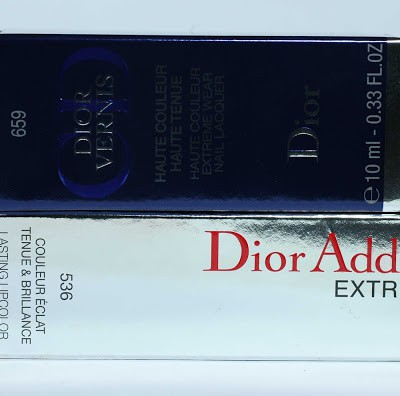 "Dior Addict Extreme Lipstick and Nailpolish ""Lucky"""