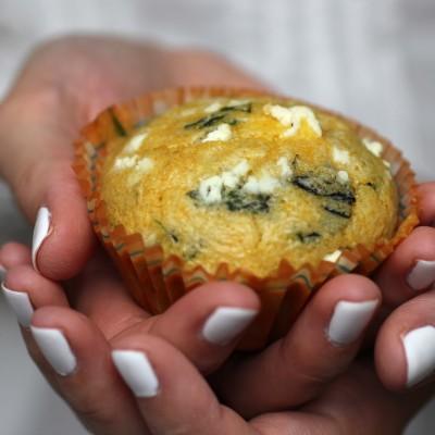 Polenta Basilikum Muffins & White Dinner