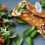Wrap mit Käse-Schinken-Füllung (Low Carb)