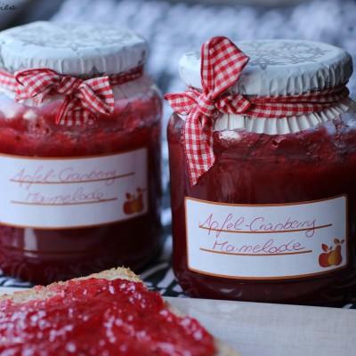Apfel-Cranberry-Marmelade