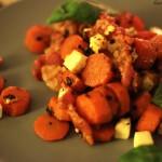 Ofenkarotten mit Speck und Feta (Low Carb)