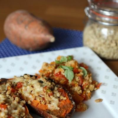 Süßkartoffel – Vegetarisch gefüllt