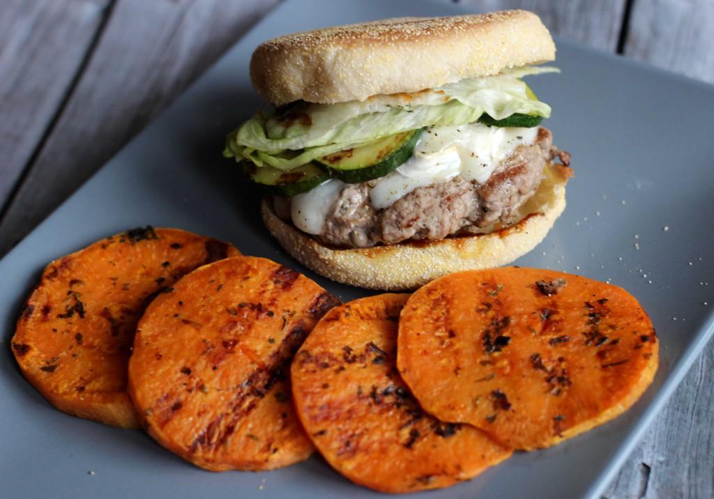 Rezept Ziegenkaeseburger mit Suesskartoffeltaler_2