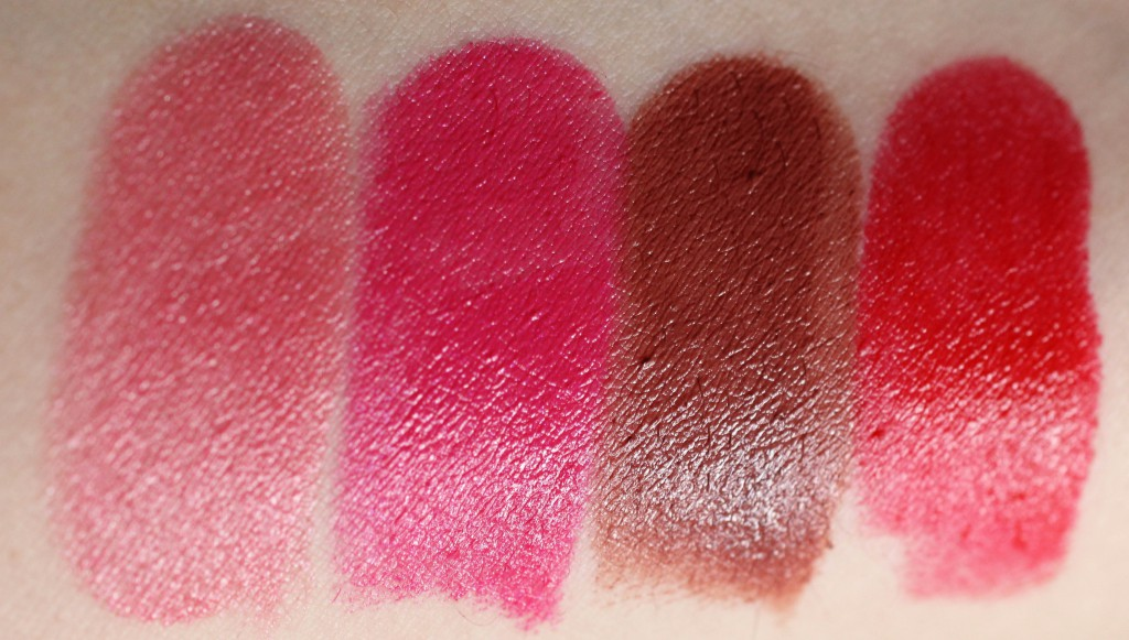 Astor Perfect Stay Fabulous Lipstick Swatches 604 Fruity, 202 Fuchsia, 703 Fantastic, 203 Fabulous Style