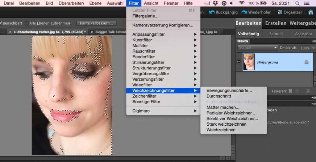 Bildbearbeitung Weichzeichner Photoshop Elements