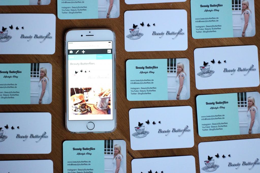 Bloggertalk - Wie mache ich meinen Blog bekannter_Visitenkarten