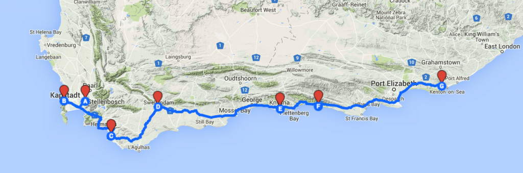 Suedafrika Roadtrip Gardenroute Cape Town to Port Elizabeth