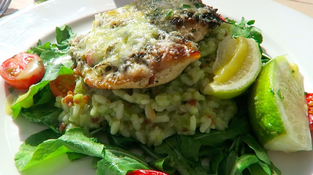 5 Camps Bay Blues Restaurant Pesto Chicken and Risotto - www.beautybutterflies.de