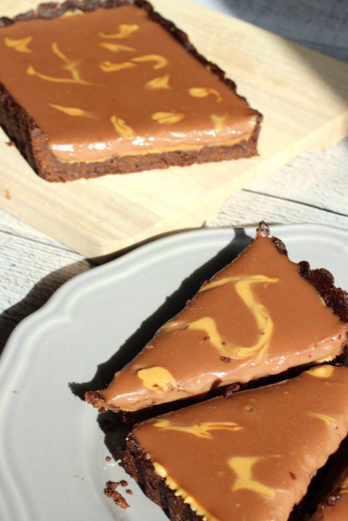 Rezept Chocolate Peanut Butter Tarte 4 - www.beautybutterflies.de