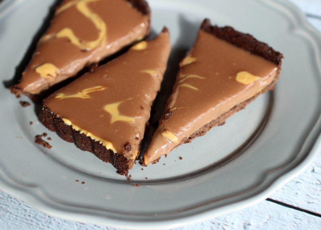 Rezept Chocolate Peanut Butter Tarte 5 - www.beautybutterflies.de