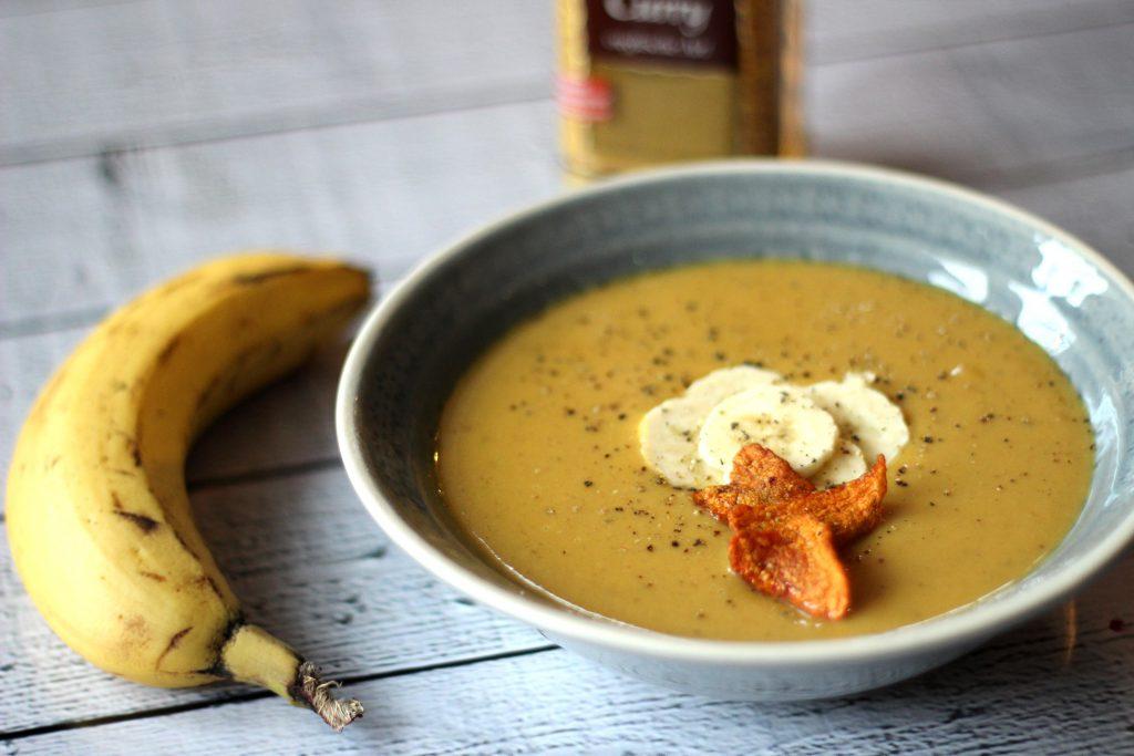 Suesskartoffel Bananen suppe Rezept