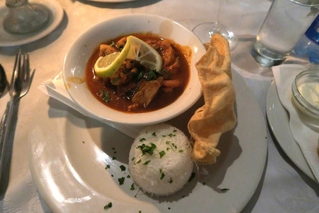 5c Olive Tree Knysna Restaurant Chicken and Prawn Curry