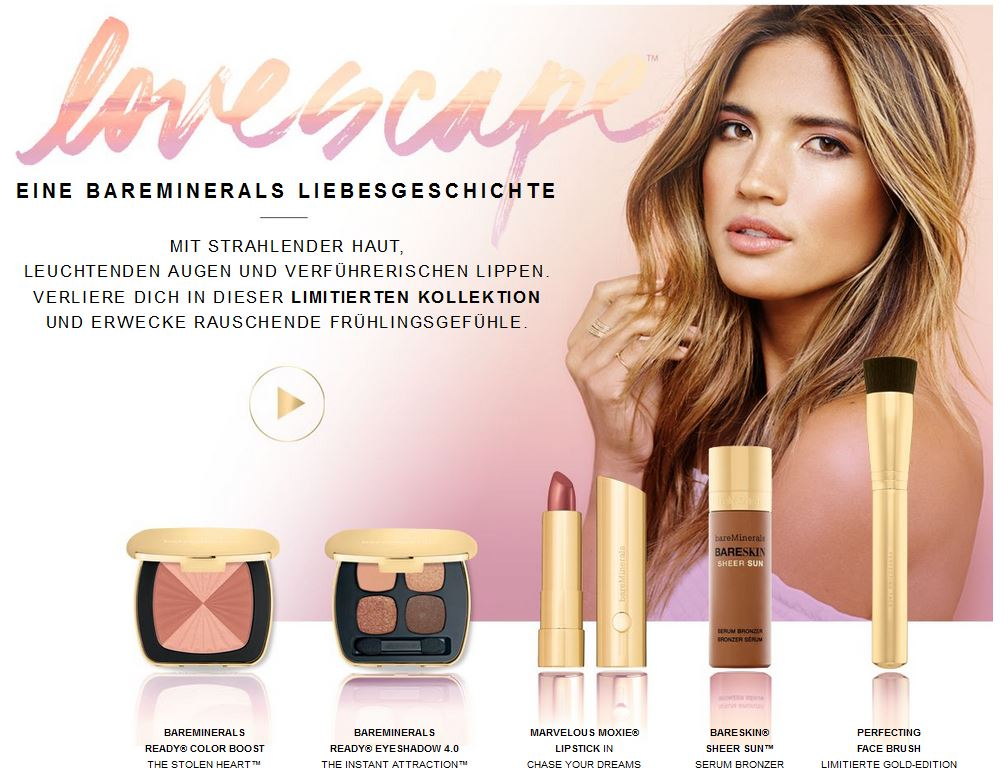 BareMinerals Lovescape Kollektion