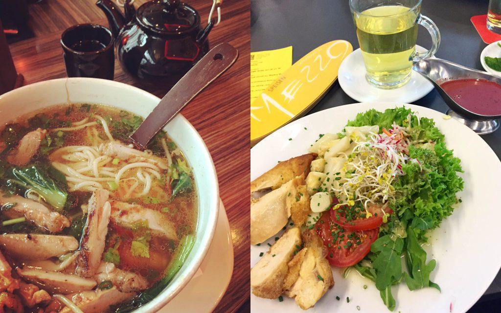 Unterwegs gesundkalorienarm Essen - Ramen und Salat - www.beautybutterflies.de