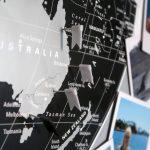 In 4 Schritten zur DIY Weltkarte für Globetrotter