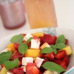 Erdbeer Mango Feta Salat dank Wassermelonen-Fail