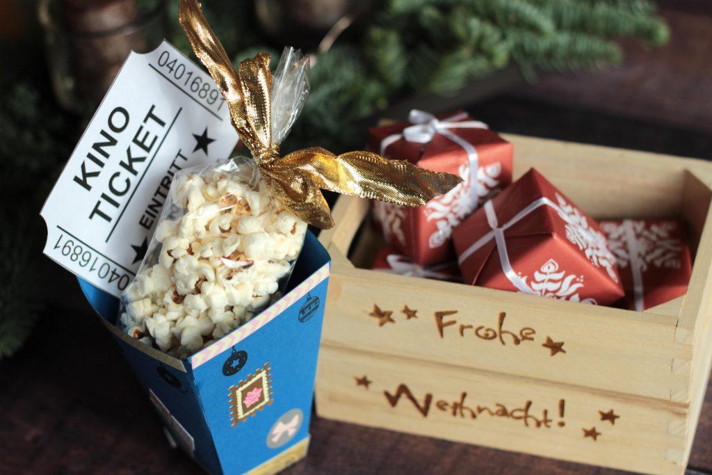 Kinogutscheine Kreativ Verschenken Diy Popcornbox