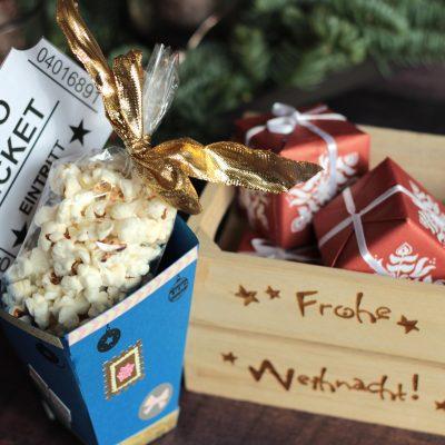 Kinogutscheine kreativ verschenken – DIY Popcornbox