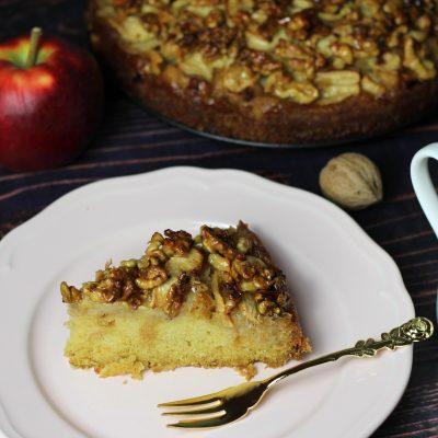 [Herbstküche] Apfelkuchen mit Walnusskaramell